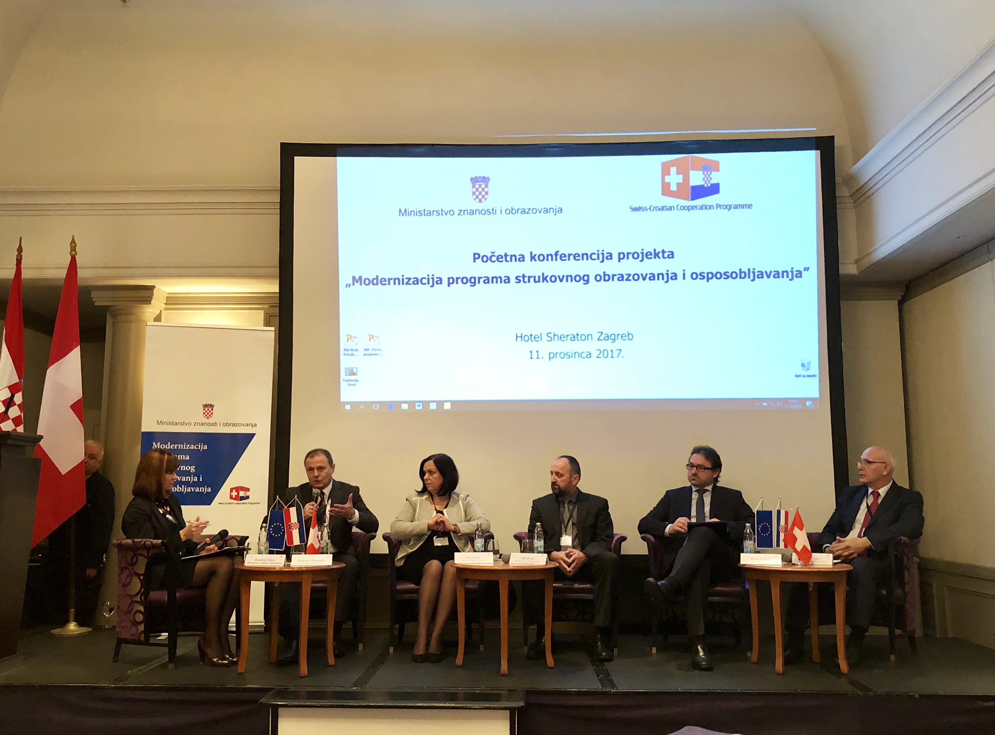 The President of Croatian Chamber of Trades and Crafts participates in the panel discussion on vocational education and training modernisation